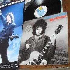 Discos de vinilo: GARY MOORE LP. WILD FRONTIER. MADE IN SPAIN. 1987. INCLUYE POSTER. Lote 53144319