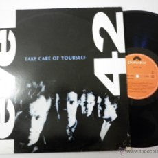 Discos de vinilo: LEVEL 42 TAKE CARE OF YOURSELF 1989 MAXI. Lote 53145556