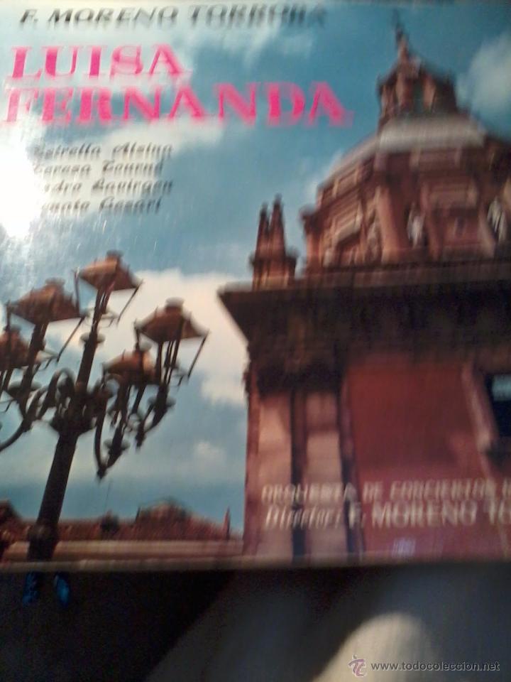 DISCO DE VINILO. F. MORENO TORROBA. LUISA FERNANDA. C5V (Música - Discos - LP Vinilo - Clásica, Ópera, Zarzuela y Marchas)