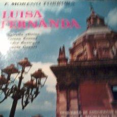 Discos de vinilo: DISCO DE VINILO. F. MORENO TORROBA. LUISA FERNANDA. C5V. Lote 53146485