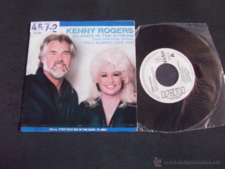 KENNY ROGERS-DISCO SINGLE-SG2-ISLAND IN THE STREAM-I WILL ALWAYS LOVE YOU-1983-PROMOCIONAL (Música - Discos - Singles Vinilo - Country y Folk)