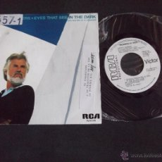 Discos de vinilo: KENNY ROGERS-DISCO SINGLE-SG2-EYES THAT SEE IN THE DARK-BURIED TREASURE-1983-PROMOCIONAL. Lote 53148963