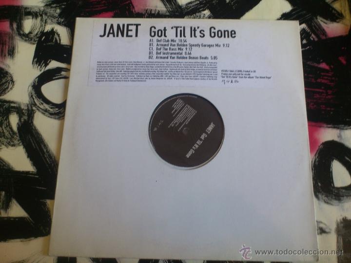 JANET JACKSON - GOT ´TIL IT´S GONE - DOBLE MAXI - PROMO - VINILO - VIRGIN - BLACK DOLL - 1997 (Música - Discos de Vinilo - Maxi Singles - Techno, Trance y House)
