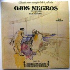 Discos de vinilo: FRANCIS LAI - OJOS NEGROS (BANDA SONORA ORIGINAL DE LA PELÍCULA) - LP VICTORIA / VEMSA 1988 BPY. Lote 53150600