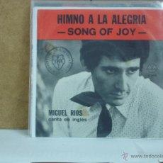 Discos de vinilo: MIGUEL RIOS - CANTA EN INGLES: SONG OF JOY / QUIERO QUE TE SIENTAS BIEN - GAMMA G-959 - MUY DIFICIL. Lote 53150932