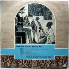 Discos de vinilo: EDWARD VITO - RECITAL DE ARPA (MOZART/HAENDEL/DEBUSSY/FALLA...) - LP CID 1959 BPY. Lote 53151727