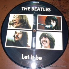 Discos de vinilo: THE BEATLES SINGLE DISC PICTURE LET IT BE YOU KNOW MY NAME EDICION 20 ANIVERSARIO SIN ESTRENAR. Lote 53157068