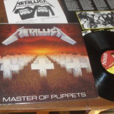 Discos de vinilo: METALLICA LP. MASTER OF PUPPETS. MADE IN UK. 1986.. Lote 53157498