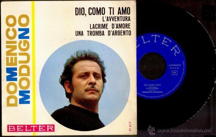 DOMENICO MODUGNO 1966 VINILO 45 RPM (Música - Discos - Singles Vinilo - Pop - Rock Extranjero de los 50 y 60)