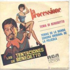 Discos de vinilo: LAS TENTACIONES DE BENEDETTO / LA PROCESSIONE / TEMA DI BENEDETTO (SINGLE PROMO 1972). Lote 53165322