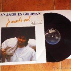 Discos de vinilo: JEAN JACQUES GOLDMAN JE MARCHE SEUL / ELLE ATTEND MAXI SINGLE VINILO 1985 HECHO EN HOLANDA 2 TEMAS. Lote 53169361