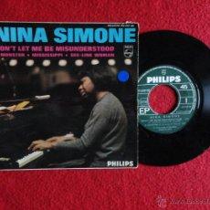 Discos de vinilo: NINA SIMONE - DON'T LET ME BE MISUNDERSTOOD + 3 // EP // EDITADO EN FRANCIA // 1964-1965. Lote 53169655