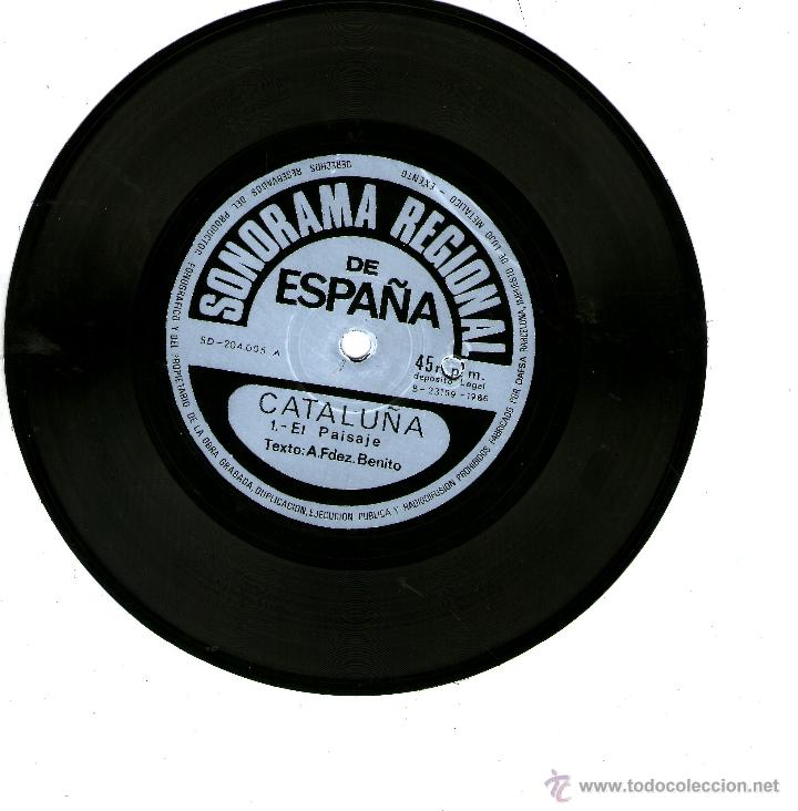 Discos de vinilo: CATALUÑA. SONORAMA REGIONAL DE ESPAÑA. ARMANDO FERNANDEZ BENITO - Foto 2 - 53176677
