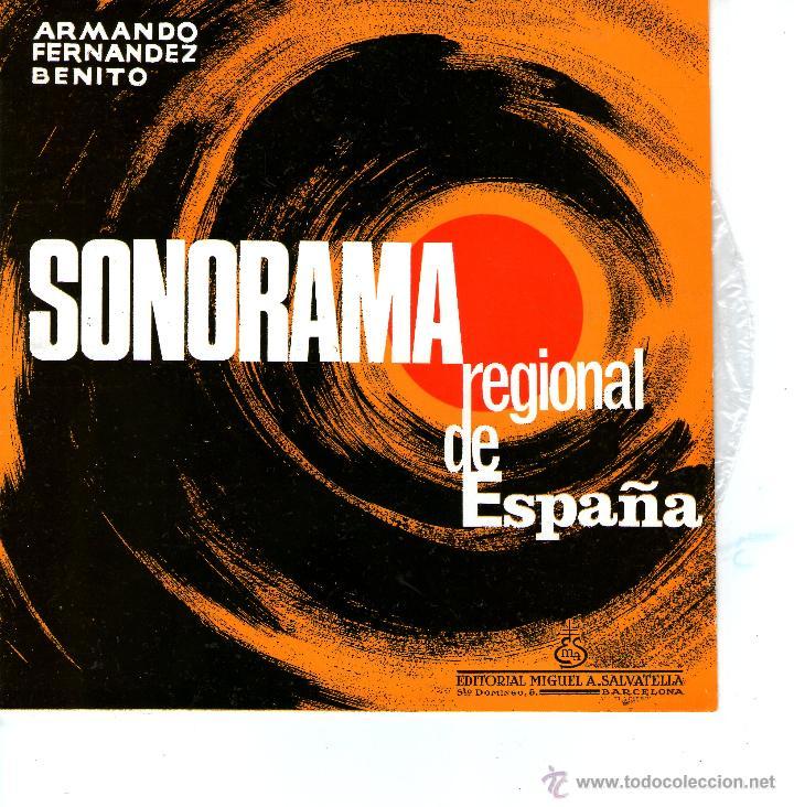 Discos de vinilo: CATALUÑA. SONORAMA REGIONAL DE ESPAÑA. ARMANDO FERNANDEZ BENITO - Foto 3 - 53176677