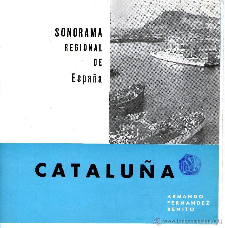 Discos de vinilo: CATALUÑA. SONORAMA REGIONAL DE ESPAÑA. ARMANDO FERNANDEZ BENITO - Foto 4 - 53176677