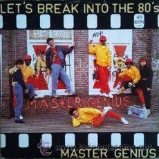 Discos de vinilo: LET,S BREAK INTO THE 80,MASTER GENIUS. Lote 103768731