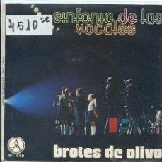 Discos de vinilo: BROTES DE OLIVO / SINFONIA DE LAS VOCALES / ¡TIERRA! (SINGLE 1975). Lote 53193652