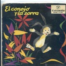 Discos de vinil: EL CONEJO Y LA ZORRA - LOS ENANOS DEL CASTILLO ENCANTADO (EP 1959 CON LIBRETO). Lote 53193773