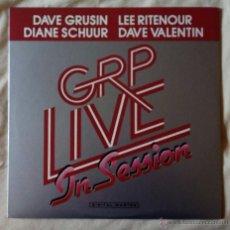 Discos de vinilo: GRP LIVE IN SESSION (GRP 1985) LP USA ENCARTE, DIANE SCHUUR LEE TITENOUR DAVE GRUSIN LARRY WILLIAMS. Lote 53197023