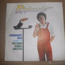 Discos de vinilo: RIPICARDO (SN) COMANDANTE MAXI AÑO 1980 - EDICION PROMOCIONAL. Lote 53199525