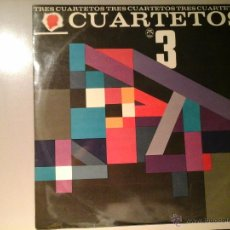 Discos de vinilo: TRES CUARTETOS 3. PRIMERA EDICIÓN ( CA. 1960 ).PALMA LP 1012. CUARTETO VOCAL. TROPICANA. JAZZ CUBANO. Lote 53208978