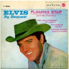 Discos de vinilo: ELVIS PRESLEY - ELVIS BY REQUEST (FLAMING STAR) - EP SPAIN 1962 - RCA VICTOR 3-20446. Lote 53213116