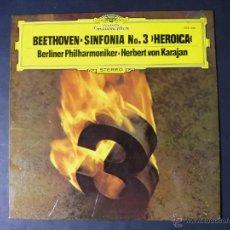 Discos de vinilo: DISCO VINILO BEETHOVEN SINFONIA N3 HEROICA DEUTSCHE GRAMMOPHON 1977 DCL052. Lote 53215194