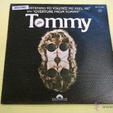 Discos de vinilo: THE WHO.TOMMY.LISTENING TO YOU.B.S.O.SINGLE.ESPAÑA 1975.POLYDOR.. Lote 53216512