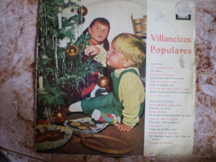 LP. VILLANCICOS POPULARES. ORIGINAL. AÑO 1963 (Música - Discos - LPs Vinilo - Música Infantil)