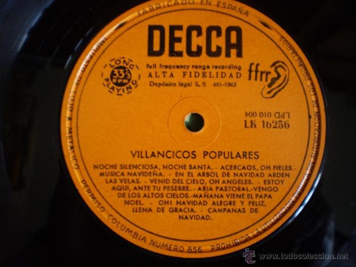 Discos de vinilo: LP. VILLANCICOS POPULARES. ORIGINAL. AÑO 1963 - Foto 2 - 53217609