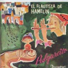 Discos de vinilo: EL FLAUTISTA DE HAMELIN / PULGARCITO (EP DISCOPHON 1961). Lote 53221035