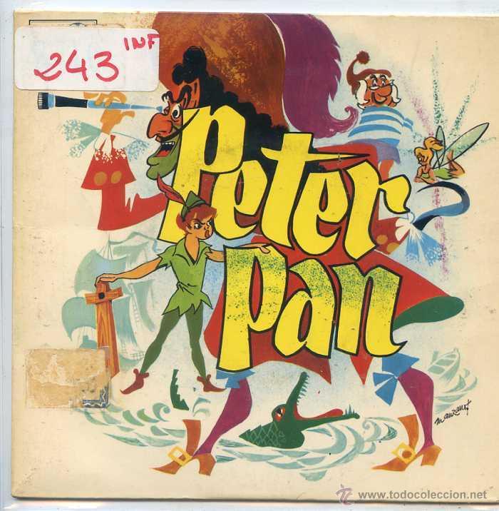 PETER PAN (TEATRO INVISIBLE DE RADIO NACIONAL DE BARCELONA 1966 - VINILO ROJO) (Música - Discos de Vinilo - EPs - Música Infantil)