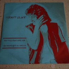 Discos de vinilo: ROBERT PLANT '' 'EX LED ZEPPELIN'' ( BURNING DOWN ONE SIDE - MOONLIGHT IN SAMOSA ) 1982-GERMANY. Lote 53224261