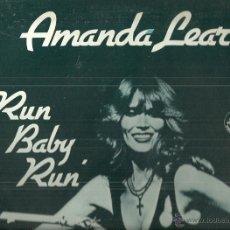 Discos de vinilo: AMANDA LEAR / GRACE JONES MAXI-SINGLE PROMOCIONAL SELLO ARIOLA AÑO1978 VINILO ROJO EDITADO EN ESPAÑA. Lote 53229114
