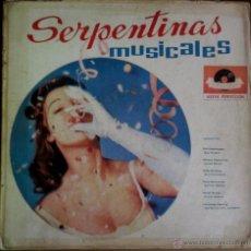Discos de vinilo: LP ARGENTINO DE ARTISTAS VARIOS SERPENTINAS MUSICALES AÑO 1962. Lote 53229499