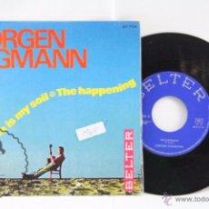 Discos de vinilo: DISCO SINGLE VINILO - JÖRGEN INGMANN. THE SEA IS MY SOIL / THE HAPPENING - BELTER, AÑO 1964. Lote 53230574