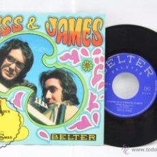 Discos de vinilo: DISCO SINGLE VINILO - JESS & JAMES. NUBES / BLEEDING ROSES / ASÍ FUE / SO IT WAS - BELTER, AÑO 1969. Lote 53230731