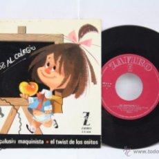 Discos de vinilo: DISCO EP VINILO - LOS CHAVALITOS TV / TELERÍN. EL COHETE / PELUSÍN... - ZAFIRO, AÑO 1965. Lote 53231357