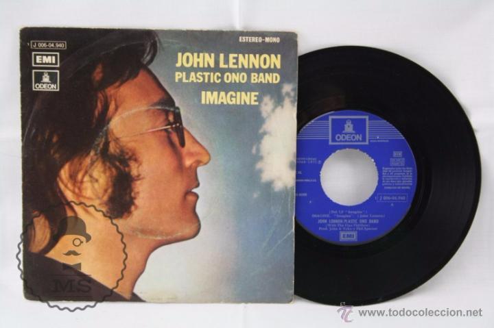 DISCO SINGLE VINILO - JOHN LENNON. PLASTIC ONO BAND. IMAGINE - ODEON, AÑO 1971 (Música - Discos - Singles Vinilo - Pop - Rock - Extranjero de los 70)