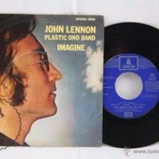Discos de vinilo: DISCO SINGLE VINILO - JOHN LENNON. PLASTIC ONO BAND. IMAGINE - ODEON, AÑO 1971. Lote 53233247