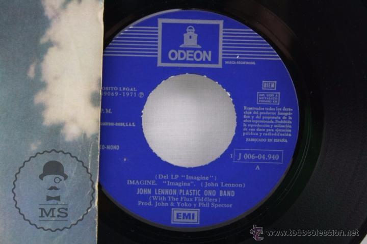 Discos de vinilo: Disco Single Vinilo - John Lennon. Plastic Ono Band. Imagine - Odeon, Año 1971 - Foto 2 - 53233247