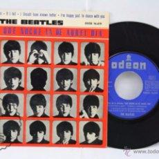 Discos de vinilo: DISCO EP VINILO - THE BEATLES. PELÍCULA QUÉ NOCHE LA DE AQUEL DÍA - ODEON, AÑO 1964. Lote 53233640