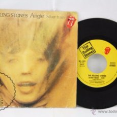 Discos de vinilo: DISCO SINGLE VINILO - THE ROLLING STONES. ANGIE / SILVER TRAIN - HISPAVOX, AÑO 1973. Lote 53234734