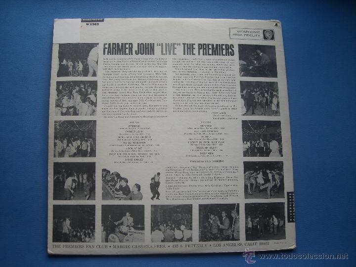 Discos de vinilo: THE PREMIERS FARMER JOHN LIVE LP USA 1964 PDELUXE - Foto 2 - 53245720