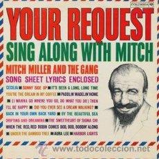Discos de vinilo: MITCH MILLER,YOUR REQUEST. Lote 53246390