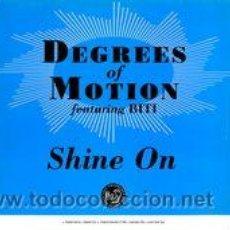 Discos de vinilo: DEGREES OF MOTION, FEATURING BITI SHINE ON. Lote 53246797