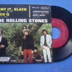 Discos de vinilo: THE ROLLING STONES PAINT IT BLACK / SUSIE Q + 2 EP MEJICO 1966 PDELUXE. Lote 53249319