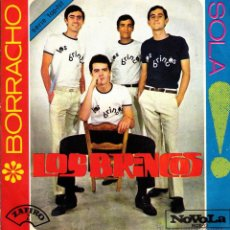Discos de vinilo: LOS BRINCOS - BORRACHO SINGLE VINILO 1965 SPAIN 45 RPM. Lote 53252474