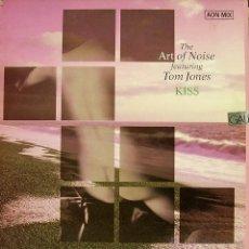 Discos de vinilo: THE ART OF NOISE FEATURING TOM JONES-KISS MAXI SINGLE VINILO 1988 SPAIN. Lote 69990246