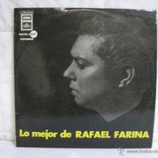Discos de vinilo: LO MEJOR DE RAFAEL FARINA * VINILO (LP) FOLCLORE ESPAÑOL. Lote 53259965
